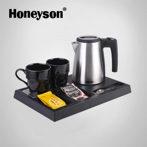 welcome tray with kettle