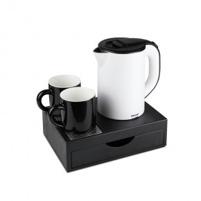 M-H1268bw new stainless steel kettle tray set